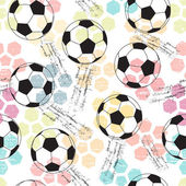Grunge seamless background with print and soccer ball