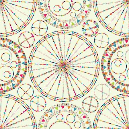 Illustration pour Fond abstrait de carnaval sans couture avec drapeau, serpentine, guirlande - image libre de droit