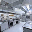 Interior of the professional kitchen...