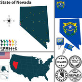 Map of state Nevada USA