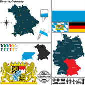 Map of Bavaria Germany