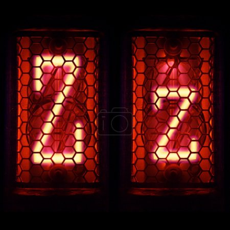 """Photo for Nixie tube indicator set of letters the whole alphabet. The letter """"Z"""". - Royalty Free Image"""