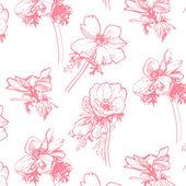 Anemone pattern Hand-drawing