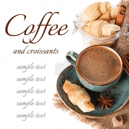 Photo for Coffee and croissants - Royalty Free Image