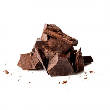 Photo for Dark chocolate pieces - Royalty Free Image