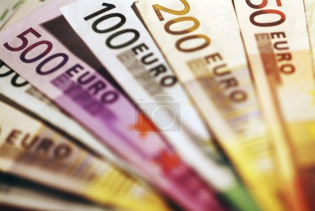 Background of euro bills.