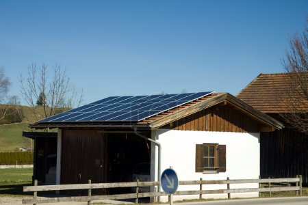 Photo for Bavarian photovoltaic - Royalty Free Image