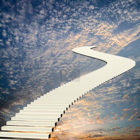 Photo for Stairway to the sky for adv or others purpose use - Royalty Free Image