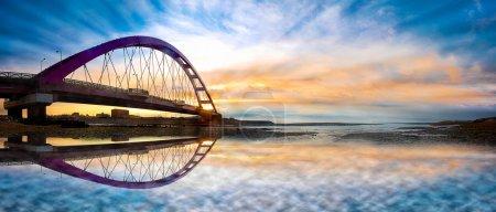 Photo pour Vue étonnante après le coucher du soleil pour adv ou autres usage usage - image libre de droit