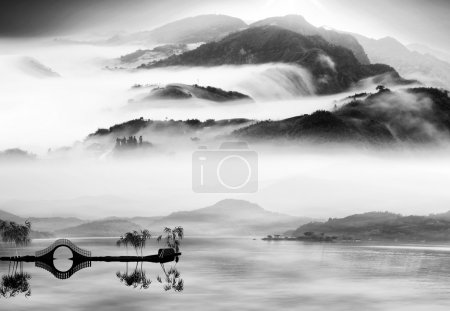 Painting style of chinese landscape