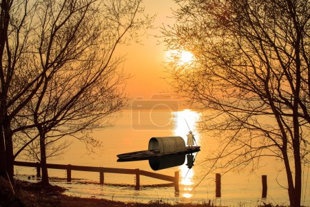 Nice river sunset
