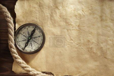 Photo pour Ancienne texture de papier pour texte, carte ou dessin, mise au point sélective - image libre de droit