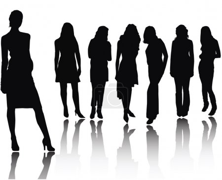 Photo for Woman silhouettes . made from my photos - Royalty Free Image