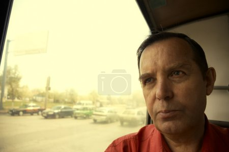 Photo pour Passager en bus - image libre de droit