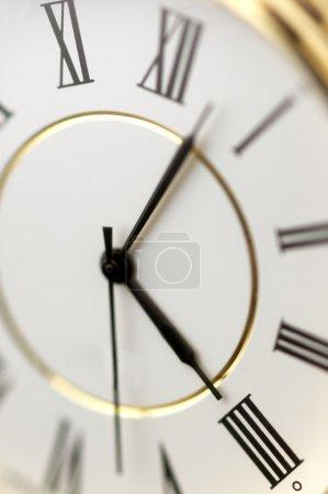 clock in close up