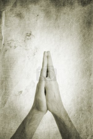 Photo for Religion concept, made from my images, focus point on hands - Royalty Free Image