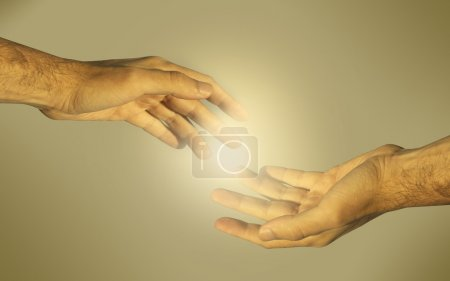 Photo for Hands of the man (as concept for gey love and couple) - Royalty Free Image