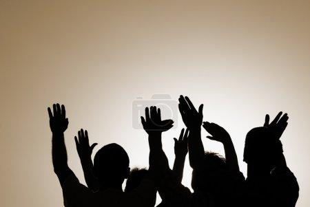 Photo pour Spécial sepia toned fx, point l'accent sur les mains (sélectives) - image libre de droit