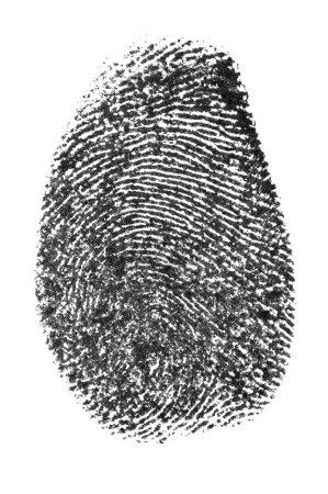 Photo pour Marque personnelle isolée sur le fond blanc (faite par moi, à partir de mon doigt ) - image libre de droit