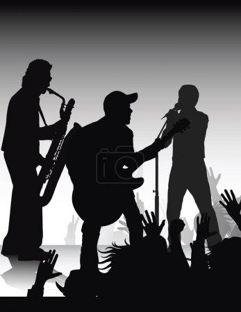 Photo pour Sur la fête musicale, faite à partir de mes photos - image libre de droit