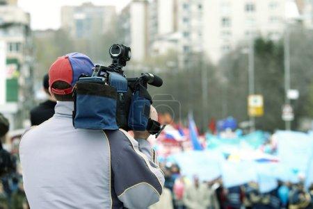 Photo pour Spécial photo tonique fx, point de mise au point sur l'homme (chapeau ) - image libre de droit