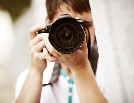 Photo pour Point de mise au point sélective de lumière naturelle, sur la partie la plus proche de la lentille - image libre de droit