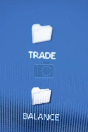 trade and balance folder