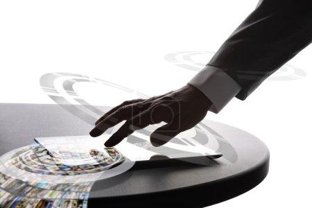 Businessman using tablet pc
