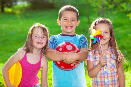 Kids in a summer park