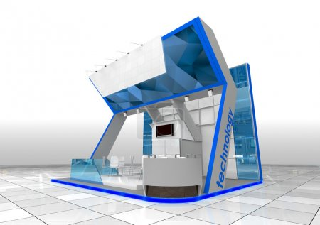 Photo for Modern exhibition stand design - Royalty Free Image