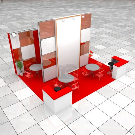 Photo for High resolution render of one modern exhibition stand - Royalty Free Image