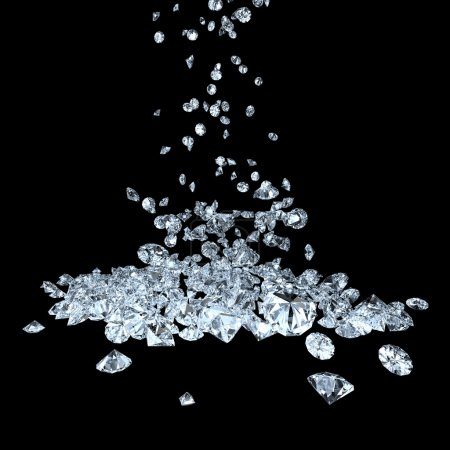 Photo for Many precious gems falling down - Royalty Free Image