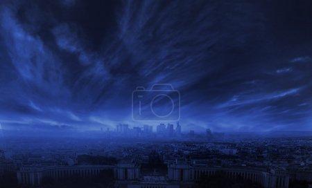 Фото удивительного шторма в городе