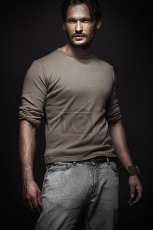 Photo for Elegant man with dark background - Royalty Free Image