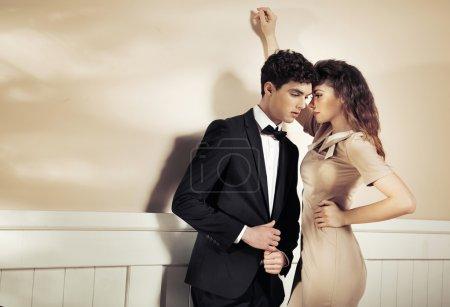 Sensual woman tempting her boyfriend