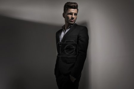 Fashion style photo of young guy