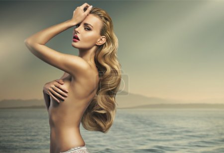 Photo for Great shot of sensual blonde woman - Royalty Free Image