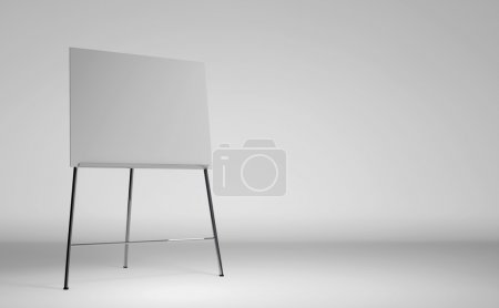 Empty white board over the white background