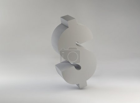 Picture presenting huge dollar sign