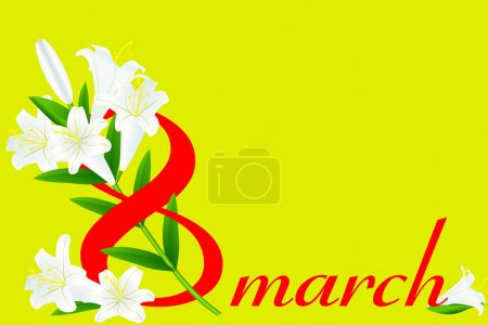 8 March and white lily