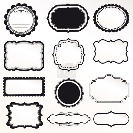 Illustration for Vector Frame Set ornamental vintage decoration - Royalty Free Image