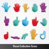 Human Hand collection Vector icon set