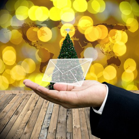 Photo pour Email de voeux dans le jour de Noël - image libre de droit