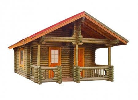 House built of logs