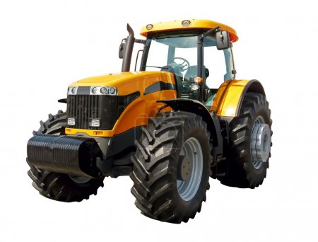 Photo for Farm tractor on a white background - Royalty Free Image