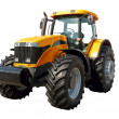 Farm tractor on a white background...