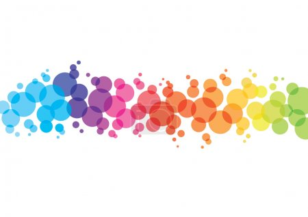 Illustration for Colourful abstract background with dots - Royalty Free Image
