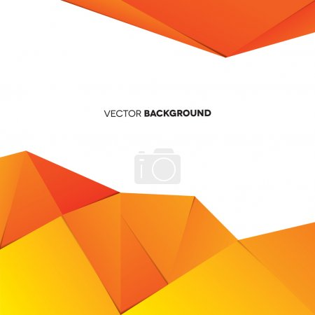 Illustration for An orange abstract background - Royalty Free Image