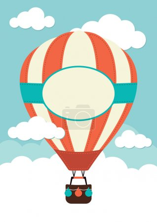 Illustration for A hot air balloon in the clouds - Royalty Free Image