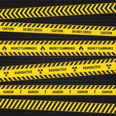 Yellow Hazard Warning Tapes